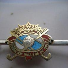 Coleccionismo deportivo: BROCHE DE PLATA DE LA FEDERACIÓN GALLEGA DE GOLF. Lote 110112539
