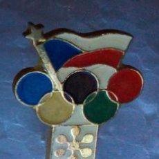 Coleccionismo deportivo: INSIGNIA ORIGINAL DEL COMITÉ OLIMPICO CHESCOLOVAKO OLIMPIADA DE SAPPORO. Lote 112809543