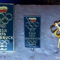 Coleccionismo deportivo: COLECCIÓN DE LAS TRES INSIGNIAS DEL COMITÉ OLÍMPICO CHESCOSLOVACO INSBRUCK 1976. Lote 112810847