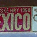 Coleccionismo deportivo: INSIGNIA DEL COMITÉ OLÍMPICO CHECO. MEXICO 68. Lote 113427919