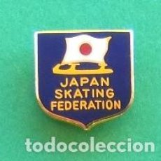 Coleccionismo deportivo: PIN/IMPERDIBLE JAPAN SKATING FEDERATION. Lote 115302711