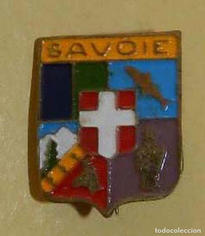 INSIGNIA ESCUDO HERÁLDICO DE SABOYA, SAVOIE. FRANCIA, MIDE 1,9 CMS. DE LONGITUD (Coleccionismo Deportivo - Pins otros Deportes)