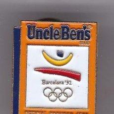Coleccionismo deportivo: UNCLE BEN'S - PIN DEL EMBLEMA DE LAS OLIMPIADAS DE BARCELONA 92 - LOGO. Lote 115898831