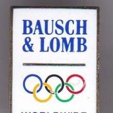 Coleccionismo deportivo: BAUSCH & LOMB - PIN DE LAS OLIMPIADAS DE BARCELONA 92 - AROS OLIMPICOS. Lote 115901575