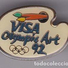 Coleccionismo deportivo: VISA OLYMPIC ART - PIN DE LAS OLIMPIADAS DE BARCELONA 92 - AROS OLIMPICOS. Lote 115902203