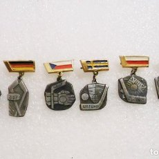 Coleccionismo deportivo: LOTE 6 INSIGNIAS ,PINS SOVIETICAS .TEMATICA-CHOKEY .URSS. Lote 121566043