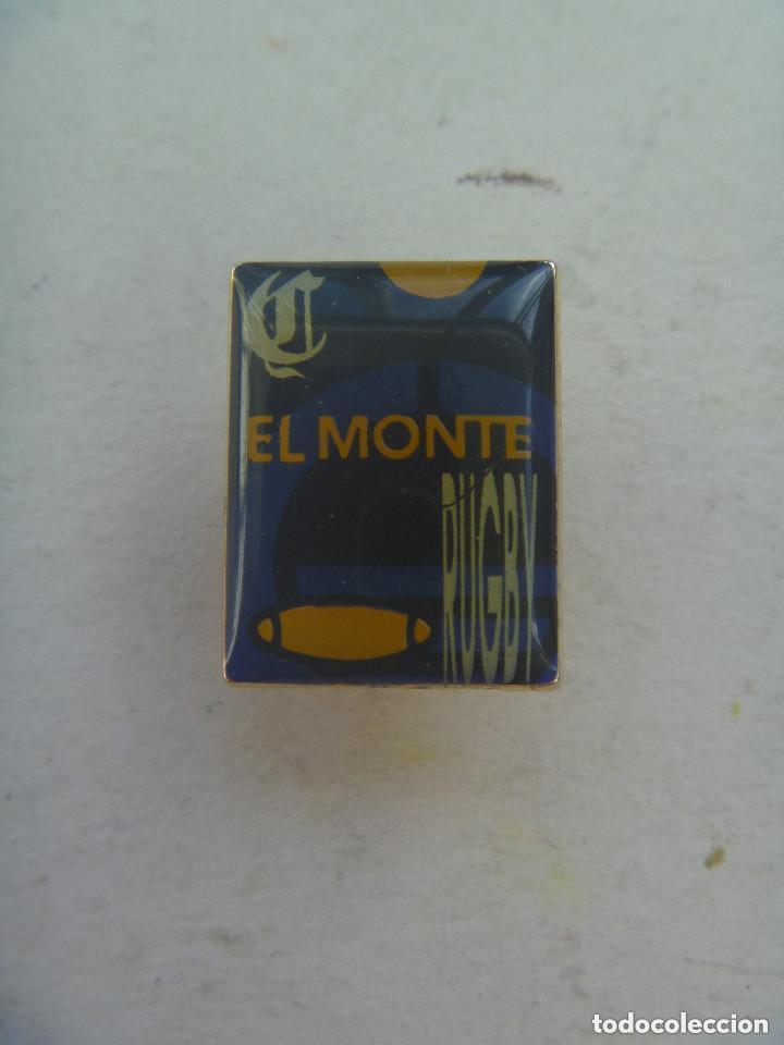 PIN PUBLICITARIO DE EL MONTE DE SEVILLA : EQUIPO DE RUGBY (Coleccionismo Deportivo - Pins otros Deportes)