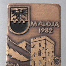 Coleccionismo deportivo: PIN INSIGNIA DE AGUJA: ALTA MONTAÑA - ESQUÍ NÓRDICO MALOJA 1982 ENGANDIN SKI MARATHON. Lote 127209535