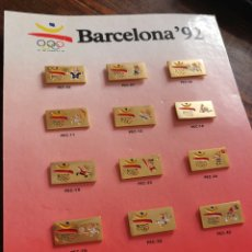 Coleccionismo deportivo: COLECCIÓN DISPLAY PINS COBI DEPORTES OLIMPIADAS BARCELONA 92- DAEA-SELONA, S.A.. Lote 212711255