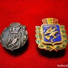 Coleccionismo deportivo: INSIGNIAS FEDERACIÓN ESPAÑOLA PATINAJE.. Lote 135939122