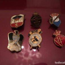 Coleccionismo deportivo: LOTE DE 6 PINS O INSIGNIAS DE FEDERACIONES ESPAÑOLAS. Lote 142483517