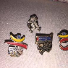 Coleccionismo deportivo: LOTE 4 PINS OFICIALES OLIMPIADAS BCN 92. Lote 144254345