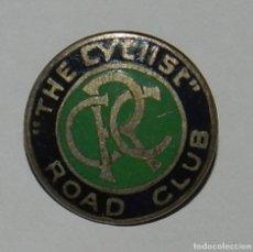 Coleccionismo deportivo: THE CYCLIST ROAD CLUB ENAMEL BADGE, INSIGINIA DE SOLAPA DE CICLISMO, ESMALTADA, MIDE 2 CMS. REVERSO . Lote 144836354