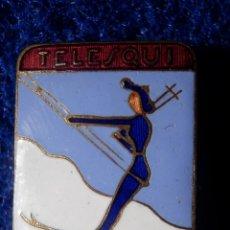 Coleccionismo deportivo: INSIGNIA ESMALTADA DE IMPERDIBLE SKI - MONTAÑA - TELESQUI DE LA MOLINA -. Lote 148121742