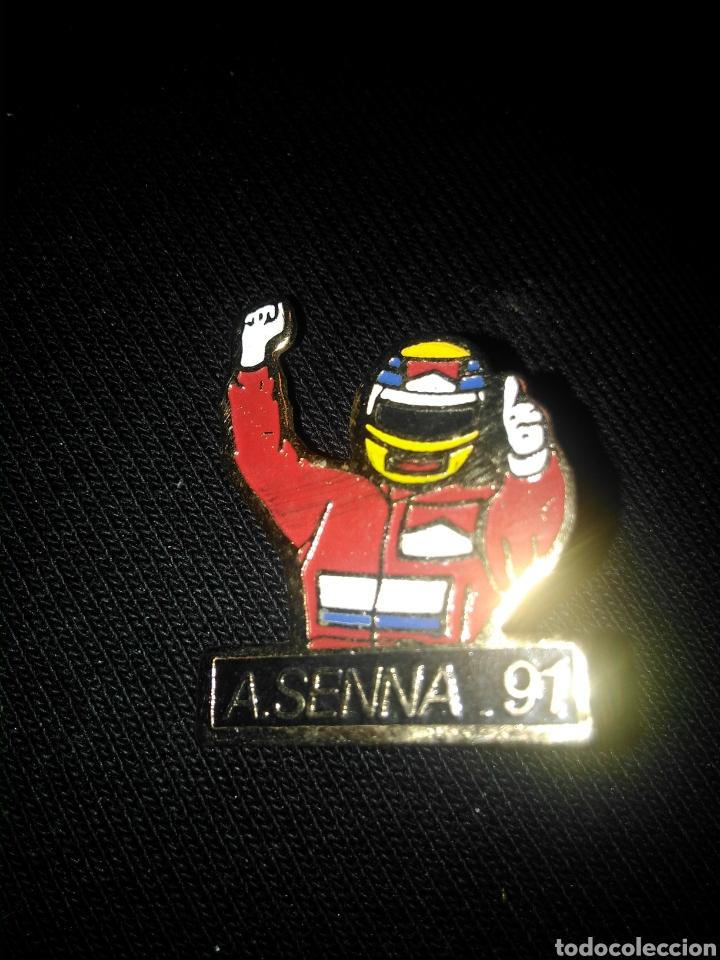 PIN FORMULA 1 A. SENNA 1991 (Coleccionismo Deportivo - Pins otros Deportes)
