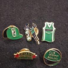 Coleccionismo deportivo: LOTE DE 5 PINS. CLUB JOVENTUT BADALONA. BALONCESTO , BASKET .. Lote 152191040