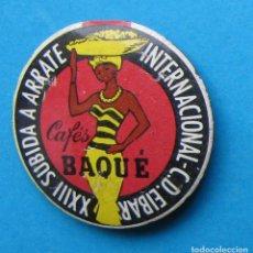 Coleccionismo deportivo: INSIGNIA INTERNACIONAL C. D. EIBAR. XXIII SUBIDA A ARRATE. CAFÉS BRAQUÉ, 1963.. Lote 154156342