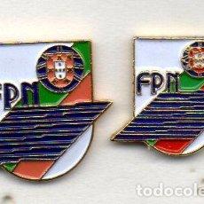 Coleccionismo deportivo: PIN-LOTE DE 2 PINS DE FEDERACIÓN DE PORTUGAL DE NATACIÓN-DISTINTOS TAMAÑOS. Lote 154957590