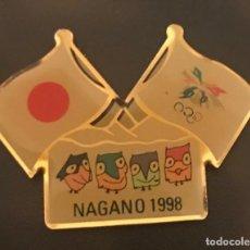 Coleccionismo deportivo: PIN MASCOTAS JUEGOS OLIMPICOS NAGANO 1998. Lote 155115762