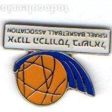 Coleccionismo deportivo: PIN-FEDERACIÓN DE ISRAEL DE BALONCESTO. Lote 155701490