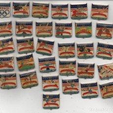 Coleccionismo deportivo: PIN-SERIE COMPLETA DE 31 PINS BARCELONA 92 USA-DIFICIL CONSEGUIRLA COMPLETA. Lote 156837638