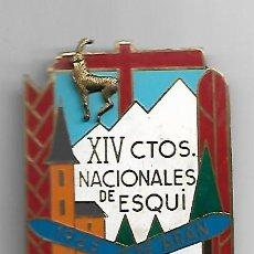 Coleccionismo deportivo: XIV CAMPEONATOS NACIONALES DE ESQUI 1965 VALLE DE ARAN -LERIDA.O.S EDUCACIÓN Y DESCANSO. Lote 166684002