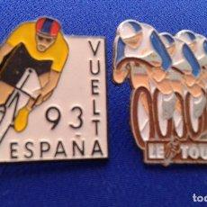Coleccionismo deportivo: LOTE PINS CICLISMO VUELTA A ESPAÑA 93 Y TOOUR DE FRANCIA. Lote 174105709