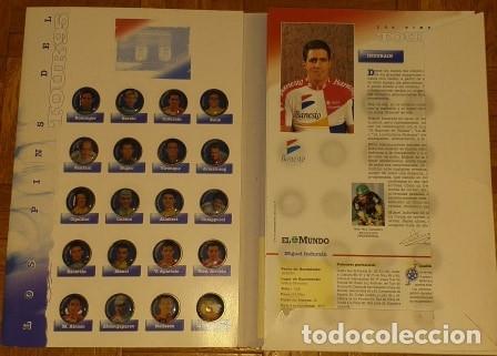 Coleccionismo deportivo: PINS DEL TOUR 95 20 PINS Y 20 FICHAS MAS CARPETA - Foto 2 - 177202075
