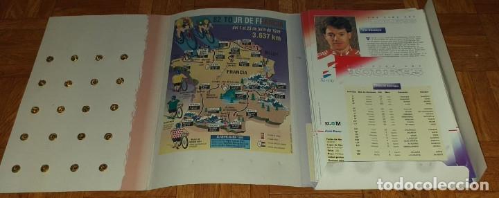 Coleccionismo deportivo: PINS DEL TOUR 95 20 PINS Y 20 FICHAS MAS CARPETA - Foto 5 - 177202075