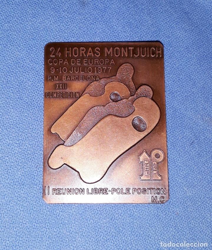 ANTIGUO PIN/PLACA DE LAS 24 HORAS DE MONTJUICH BARCELONA COPA DE EUROPA 1977 EN EXCELENTE ESTADO (Coleccionismo Deportivo - Pins otros Deportes)