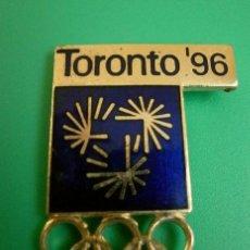 Coleccionismo deportivo: PIN OLIMPIADAS ATLANTA 96 - CANDIDATURA TORONTO 96 - JUEGOS OLIMPICOS 1996 (RARO). Lote 182687541