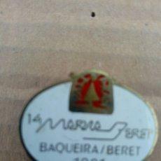 Coleccionismo deportivo: INSIGNIA DE AGUJA ESTACIÓN INVERNAL VALL D' ARAN - BAQUEIRA BERET 1991 - ESQUI NIEVE. Lote 182773822