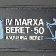 Coleccionismo deportivo: PIN INSIGNIA DE AGUJA: ALTA MONTAÑA - ESQUÍ NÓRDICO - IV MARXA BERET - BAQUEIRA BERET, AÑO 1981. Lote 187454443