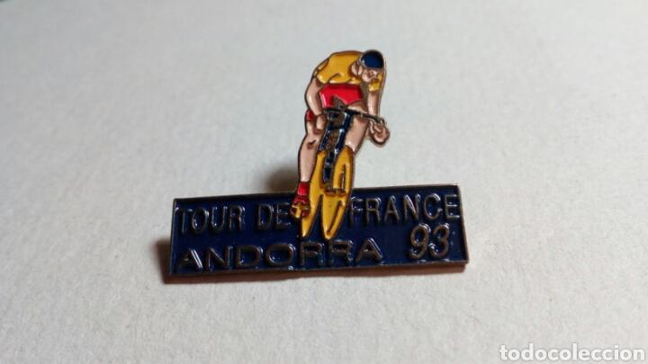 CURIOSO PIN CICLISMO TOUR DE FRANCIA ANDORRA 93 (Coleccionismo Deportivo - Pins otros Deportes)