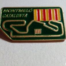 Coleccionismo deportivo: CURIOSO PIN CIRCUITO DE ESPAÑA MONTMELÓ, CATALUNYA F1, MOTOS. Lote 193818572