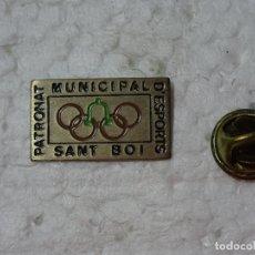 Coleccionismo deportivo: PIN DE DEPORTES. JUEGOS OLÍMPICOS OLIMPIADAS BARCELONA 92 1992. PATRONATO SANT BOI. Lote 193863715