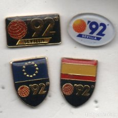 Coleccionismo deportivo: LOTE DE 4 PINS -SEVILLA 92. Lote 198619683