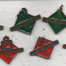 Coleccionismo deportivo: LOTE DE 6 PINS -BARCELONA 92. Lote 198620385