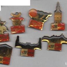 Coleccionismo deportivo: LOTE DE 11 PINS -C OCA COLA-CURRO-OLIMPIADAS DE BARCELONA Y SEVILLA 92. Lote 198653755