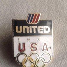 Coleccionismo deportivo: INSIGNIA OLIMPIADA 1992 USA UNITED. Lote 200052352