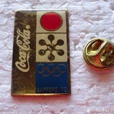 Coleccionismo deportivo: PIN DE DEPORTES / COCA COLA. JUEGOS OLÍMPICOS DE INVIERNO. CARTEL SAPPORO 72 1972. SERIE CHINA. Lote 206438306