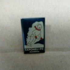 Coleccionismo deportivo: PIN DE CLIP PUBLICIDAD EXPONEU 92 DE MANRESA. Lote 207036441
