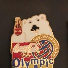 Coleccionismo deportivo: PIN OLYMPIC CITY COCA COLA JUEGOS OLIMPICOS ATLANTA 1996. Lote 214696631