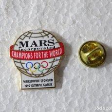 Colecionismo desportivo: PIN DE DEPORTES JUEGOS OLÍMPICOS OLIMPIADAS BARCELONA 92 1992 ALBERTVILLE. MARS INCORPORATED. Lote 220893057