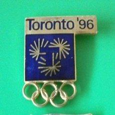 Coleccionismo deportivo: 2 PINS OLIMPIADAS CANADA - ATLANTA TORONTO 96 - JUEGOS OLIMPICOS 1996 (RARO) JUEGOS PANAMERICANOS 99. Lote 182687541