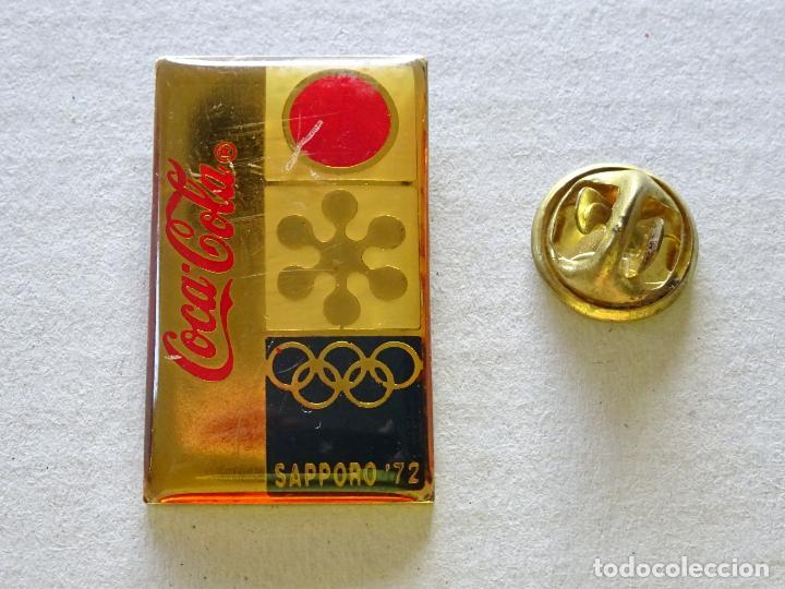 PIN DE DEPORTES. JUEGOS OLÍMPICOS DE INVIERNO SAPPORO 72 1972 JAPÓN. COCA COLA (Coleccionismo Deportivo - Pins otros Deportes)