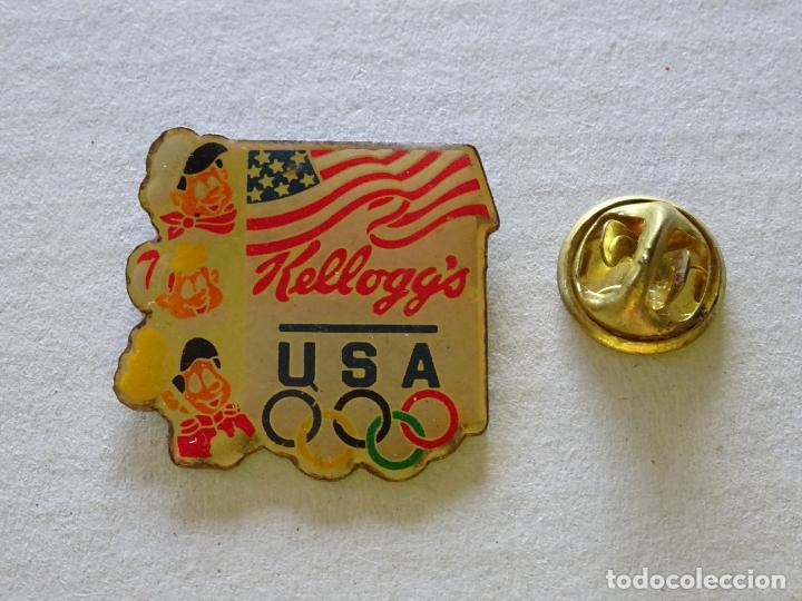 PIN DE DEPORTES. JUEGOS OLÍMPICOS USA TEAM. PATROCINADOR CEREALES KELLOGGS (Coleccionismo Deportivo - Pins otros Deportes)