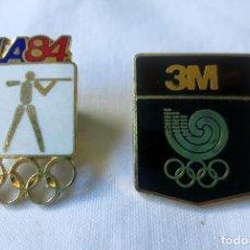 Coleccionismo deportivo: LOTE DOS PINS OLIMPIADAS SEUL 1988 Y LOS ANGELES 1984. Lote 224054457