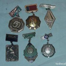 Coleccionismo deportivo: 6 INSIGNIAS DE DEPORTE. Lote 235700880