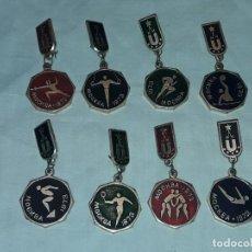 Coleccionismo deportivo: 8 INSIGNIAS DE DEPORTES OLÍMPICOS AÑO 1973. Lote 235701165